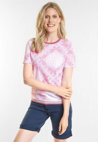 CECIL - Bandana Style Print Shirt in Galaxy Pink