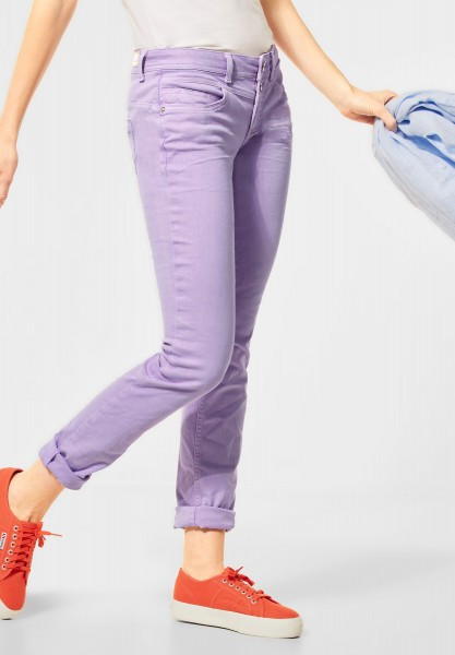 Street One - Casual Fit Denim in Colour in Clear Lilac Summer Wash