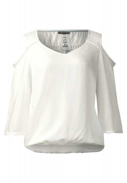Street One - Bluse mit Cut-Outs Pernilla in Off White
