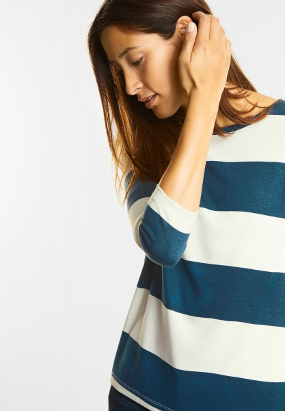 Street One - Basic 3/4-Arm Shirt Utina in Pacific Blue