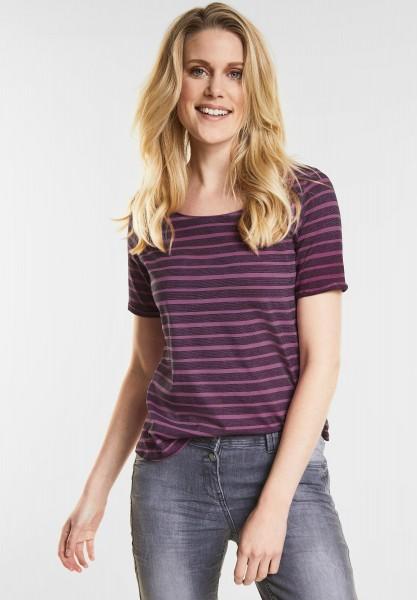 CECIL Streifen Basic Shirt Jella in Magic Pink