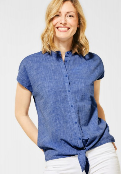 CECIL - Bluse mit Knotendetail in Blouse Blue
