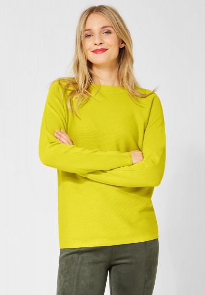 Street One Pullover Faye mit Rippe in Lime