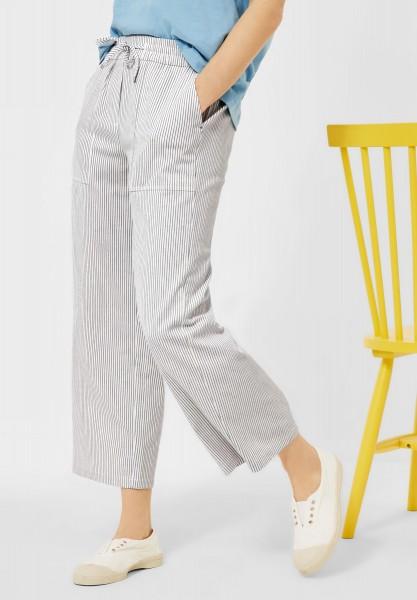 CECIL - Loose Fit Hose mit Streifen in Smoky Grey