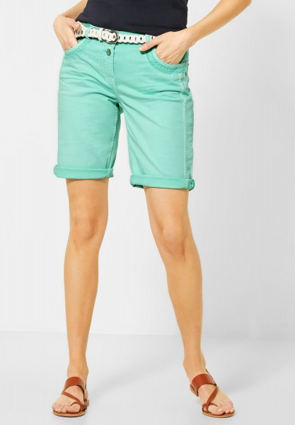 CECIL - Loose Fit Shorts in Light Molecule Mint Green