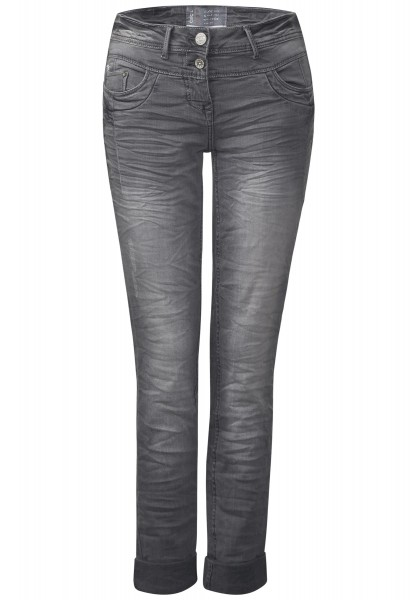 CECIL - Graue Crashdenim Scarlett in Light Grey Used Wash