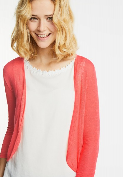 Street One - Open Style Shirtjacke in Hot Coral