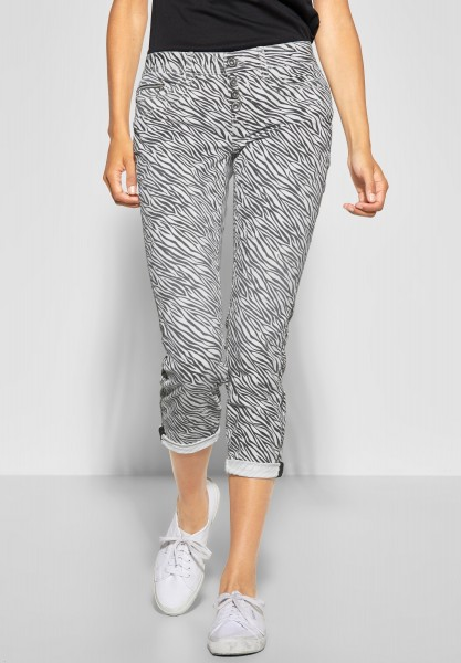 Street One - Denim mit Zebra Crissi in White Denim Printed