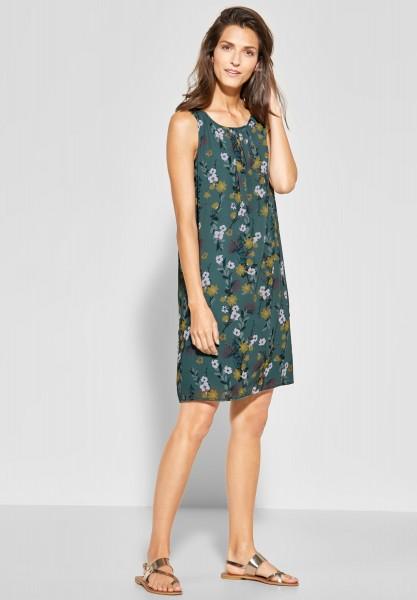 CECIL - Blumen Print Kleid in Sage Green