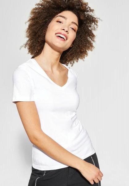 Street One - Shirt mit V-Neck Rhea in White