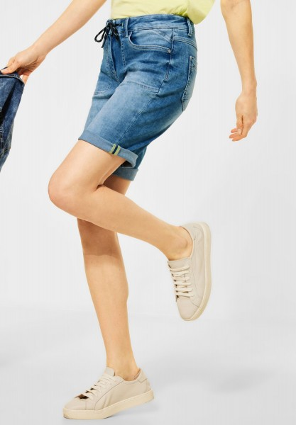 CECIL - Loose Fit Denim Shorts in Light Blue Wash