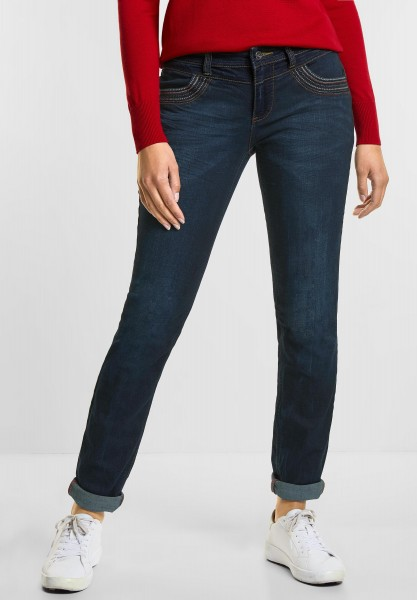 Street One - Casual Fit Denim Jane in Authentic Blue Denim Wash