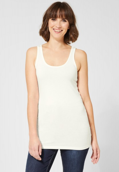 CECIL - Basic Longtop Ela in Pure Off White