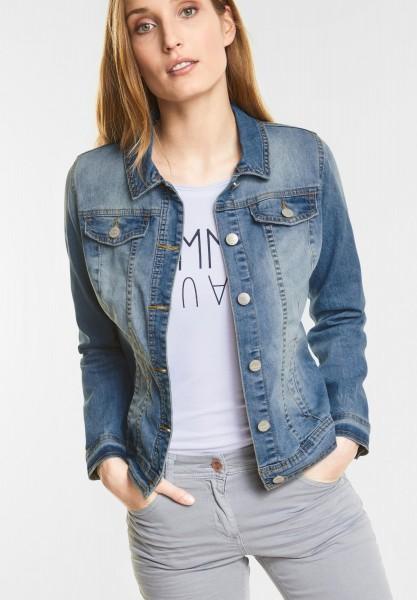 CECIL - Jeans Jacke Charlotta in Mid Blue Wash