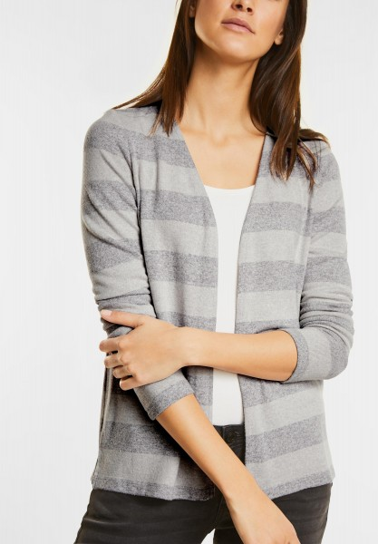 Street One - Softer Open Style Cardigan in Shell White Melange
