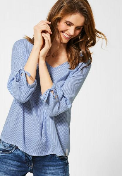 CECIL - Seersucker-Bluse in Blouse Blue