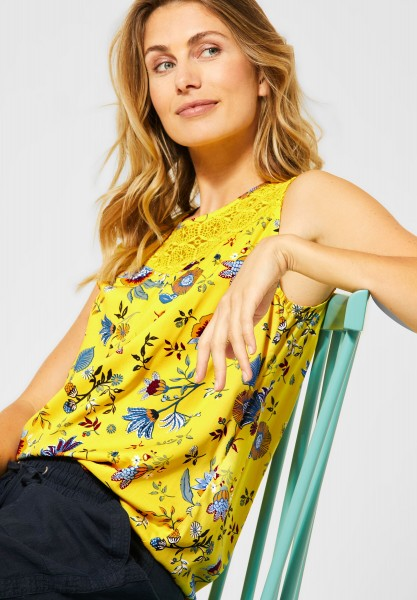 CECIL - Top mit Blumenmuster in Radiant Yellow