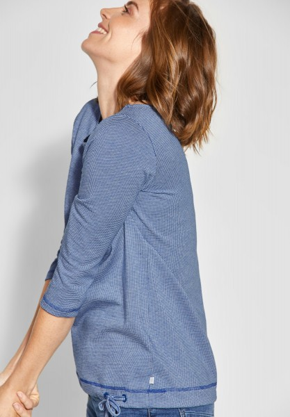CECIL - Shirt mit Muster Desi in Tinted Ink Blue