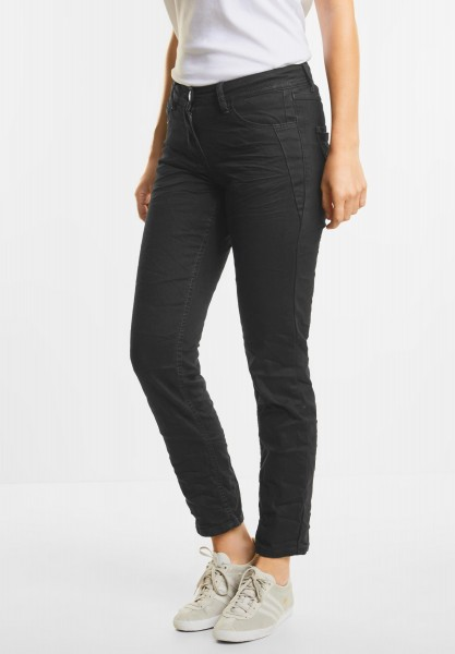 CECIL - Black Crinkledenim Scarlett in Black Denim