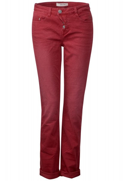 Street One - Coloured Denim Mika in Classy Red Wash