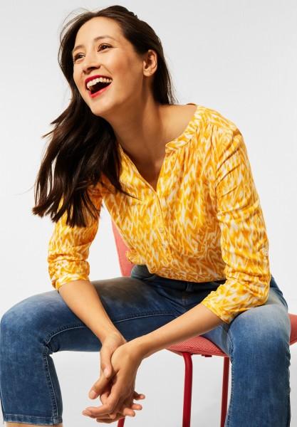 Street One - Bluse mit Print in Sulphur Yellow
