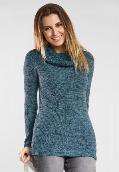 CECIL - Pullover mit großem Kragen in Peppermint Blue