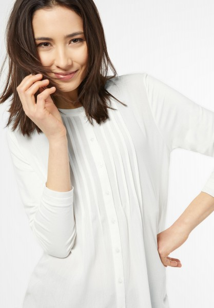Street One - Blusiges Longshirt Laura in Off White