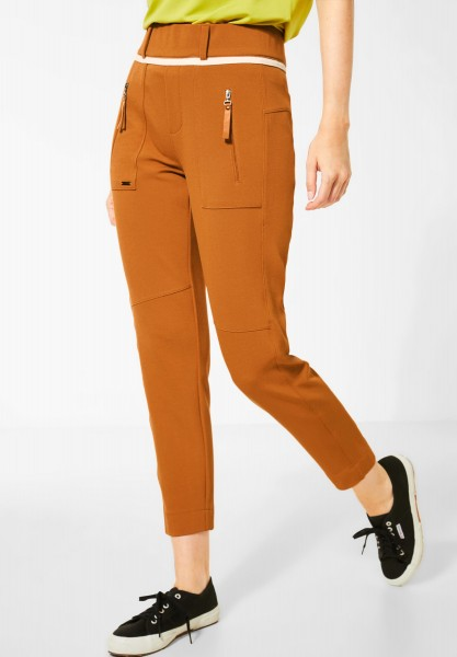 Street One - Hose im Joggpants-Style in Foxy Caramel