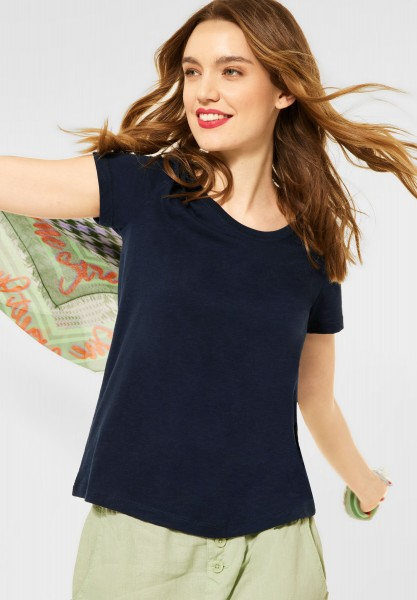 Street One - Cosy T-Shirt in Deep Blue