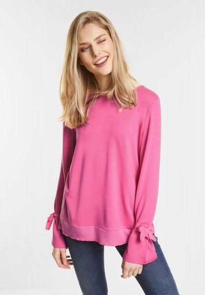 Street One - Longsleeve im Layering-Look in Flamingo Pink