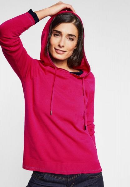 Street One - Hoodie Pullover mit Glitzer in Azalea Pink