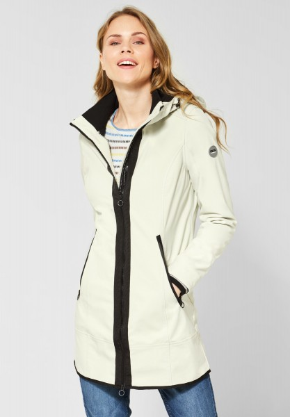 CECIL - Lange Softshell-Jacke in Salted White