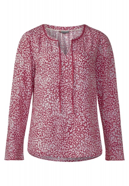 Street One - Bluse mit Blumenprint in Fuchsia Blush