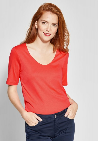 Street One - Basic Shirt Palmira in Bright Coral