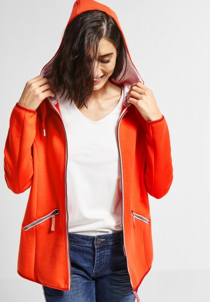 Street One - Jacke mit Kontrastblenden in Hot Orange