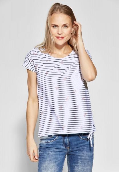 CECIL - Streifenshirt mit Print in White