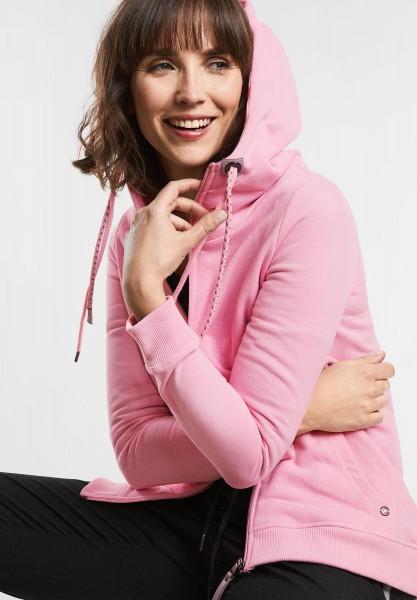 CECIL - Strickjacke im Hoodie-Style in Soft Rose Melange