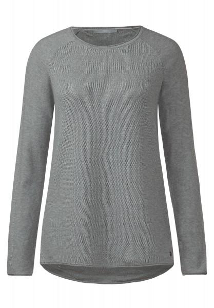 CECIL - Pullover mit Struktur Silver Melange