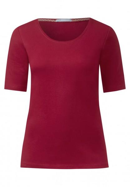 CECIL - Basic-Halbarmshirt Lena Crimson Red