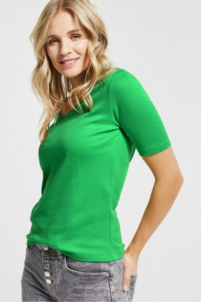 Street One - Basic Shirt Palmira in Spring Green