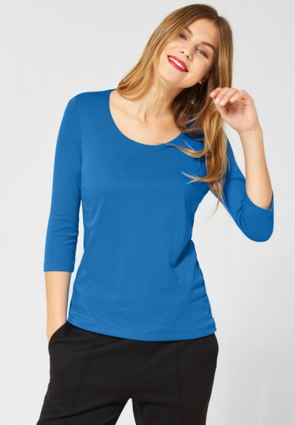 Street One - Basic Shirt Pania in Active Blue