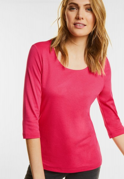 Street One - Schmales Basic Shirt Pania in Colada Pink