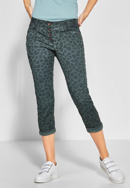 CECIL - Leo-Look Hose New York in Slate Green