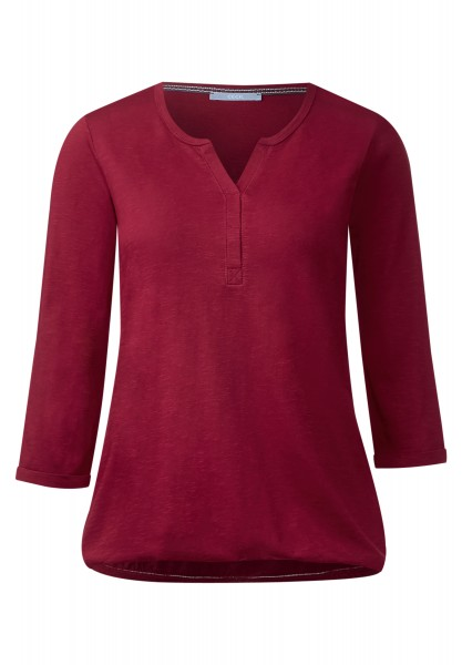 CECIL - 3/4-Arm Shirt Amelie Crimson Red