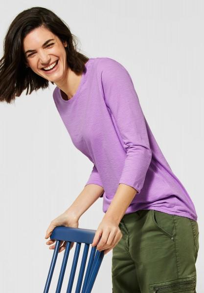 CECIL - Shirt mit 3/4-Ärmeln in Soft Violet