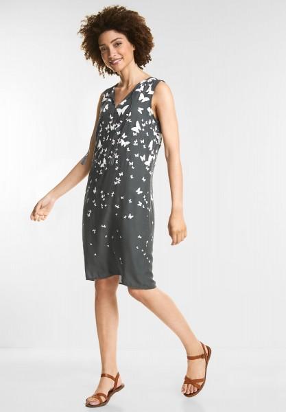 Street One - Schmetterling-Print Kleid in Chilled Green