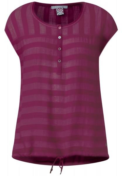 CECIL - Bluse mit Streifenstruktur in Deep Pink