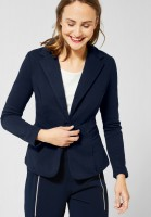 Street One - Blazer Hanni in Unifarbe in Deep Blue