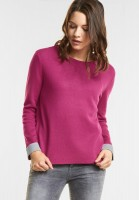 Street One Lässiger Pullover Jaela in Dark Electric Pink