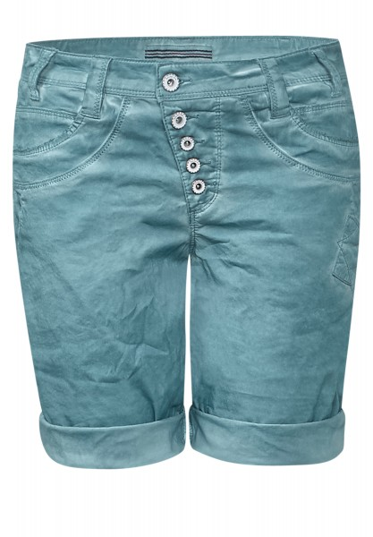 Street One - Oil-Wash Bermudashorts Bella Stone Aqua